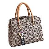 BAIGIO Design Handbags Ladies Fashion Printing Bag Casual Pu Leather Tote Shoulder Purse