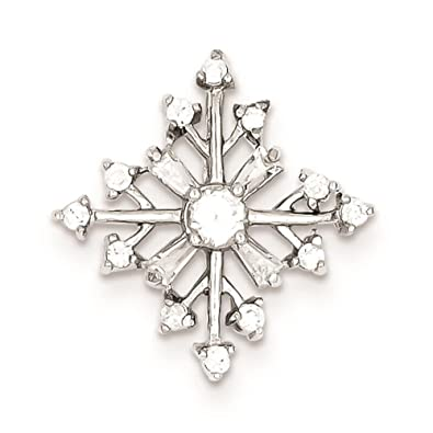 West Coast Jewelry Sterling Silver Rhodium Peridot and Diamond Flower Pendant