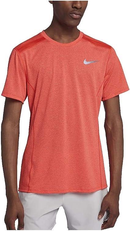Nike Dri FIT Miler T Shirt Homme, Orange, FR : S (Taille