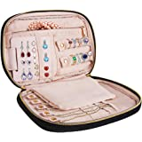 Travel Jewelry Organizer Bag - Soft Padded Traveling Jewelry Bag Case Keep Your Earrings Necklaces Rings Bracelet Brooches Organized and Secure, Women Luggage Bags Essentials- Compact and Portable