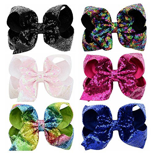 L YHXX YLEN 4 inch Large Cheer Bows for Toddlers Babies Big Girls Headbands Multicoloured
