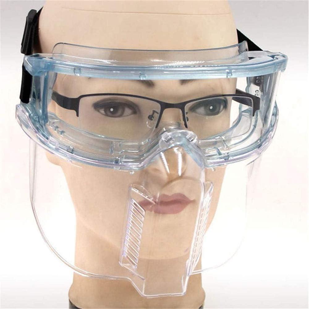 HWJF Antibacteriano contra la epidemia de Anti-Salpicaduras de Saliva Protección Mascarilla Facial Gafas Gafas Transparente vidrios Protectores