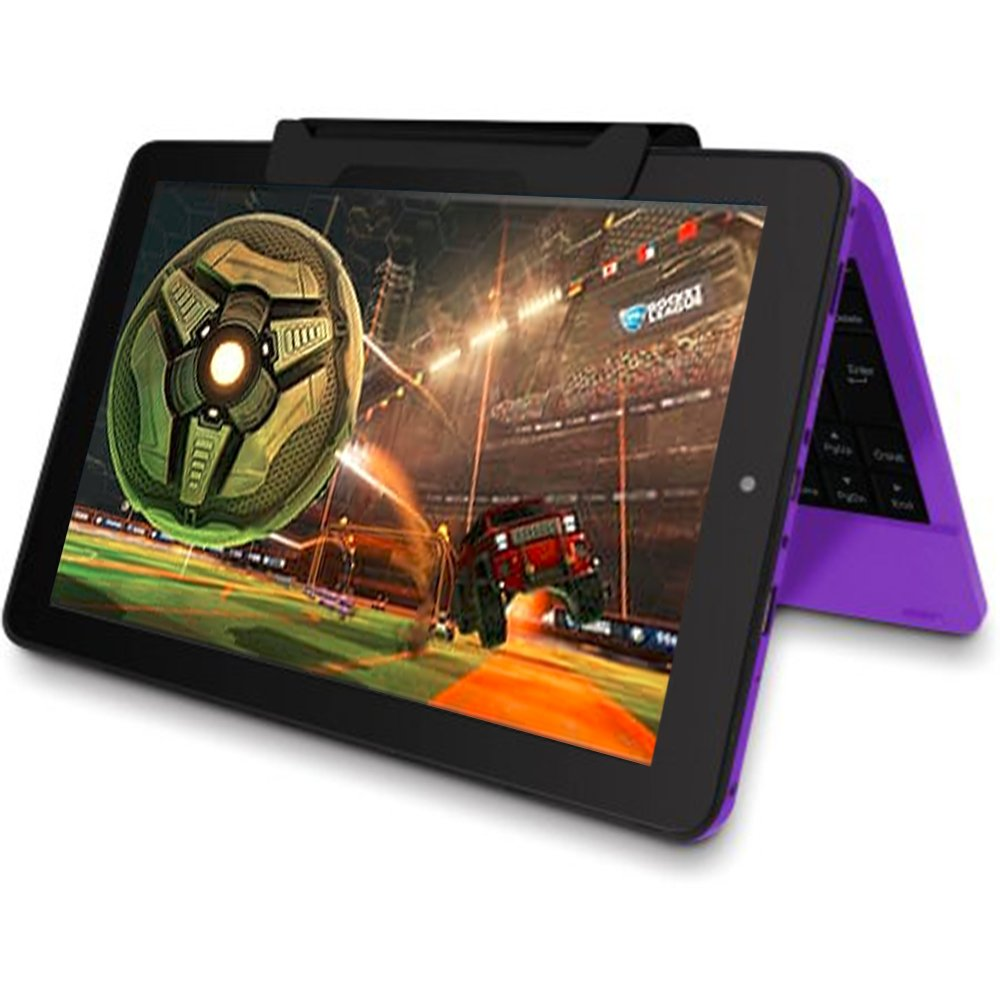 2016 Newest Premium High Performance RCA Viking Pro 10.1'' 2-in-1 Touchscreen Laptop Computer Tablet Quad-Core Processor 1G Memory 32GB Hard Drive Detachable-Keyboard Webcam Android 5.0 Lollipop Purple