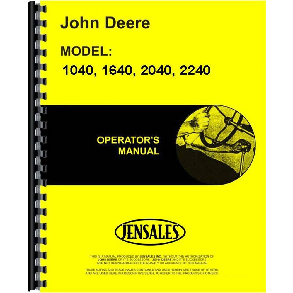 Amazon.com: New Operators Manual For John Deere 2040 Tractor: Industrial &  Scientific