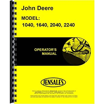 amazon com: new operators manual for john deere 2040 2240 sel     wiring