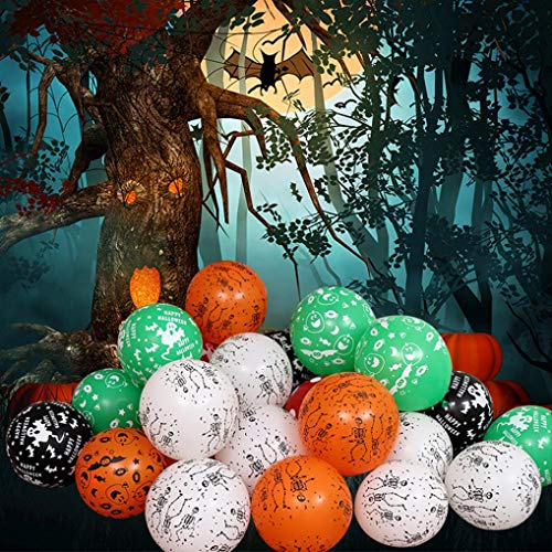YJYdada 100Pcs Halloween Birthday Party Decoration Supplies Balloon