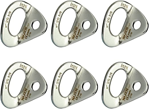 IPOTCH 304 Stainless Steel Rock Climbing Bolt Fixed Hanger Wall Anchor Carabiners