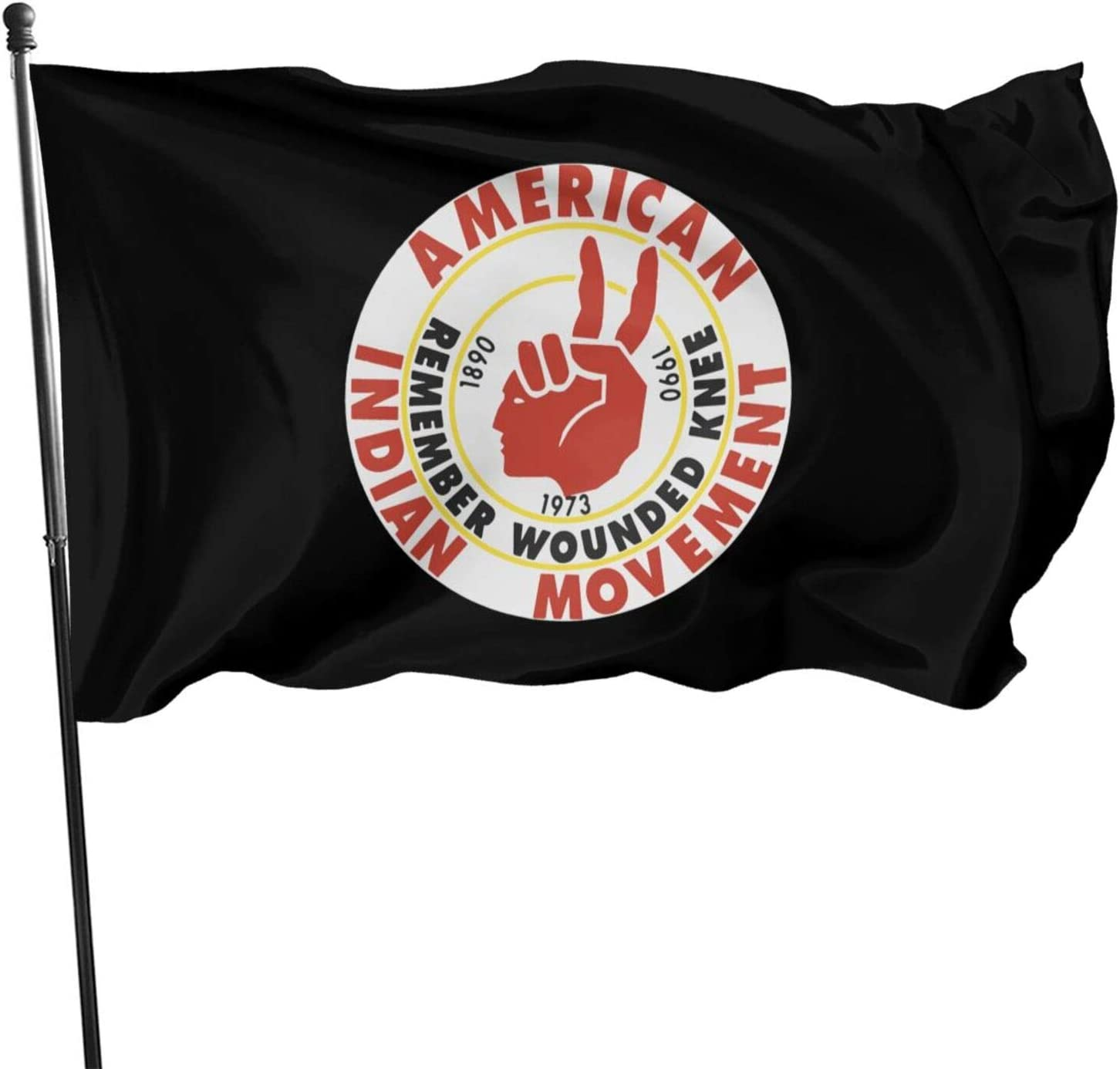 American Indian Movement Flag Indoors Outdoors Home Flag Uv Fade Resistant Garden Flag 3x5 Feet Banner