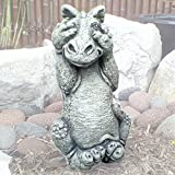 Cheap Little Darling Dragon Baby 'Peek-A Boo' – Solid Cast Stone Garden Statue – a Great Home or Garden Idea – Durable, Lifelike Sculpture – Fun Exterior and Interior Art