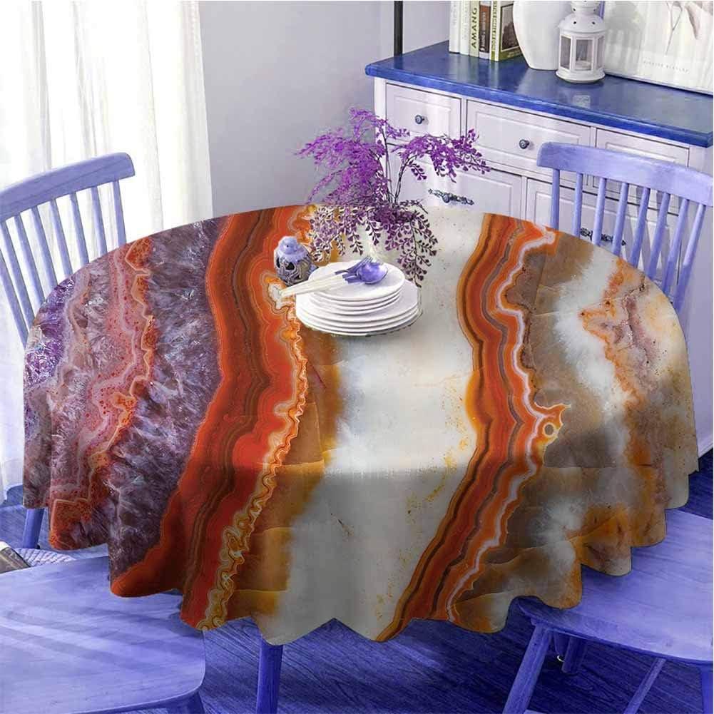 Mármol impermeable mesa redonda gradiente macro cuarzo superficie roca con minerales naturales esmaltado belleza Artsy pantalla suave al tacto diámetro 59 pulgadas multicolor
