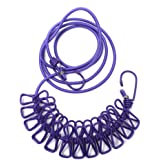 Sitrda Outdoor Elastic Clothes peg Clothesline Travel Portable Wind Proof Anti-Skid Sun Drying Rope