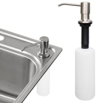 Kitchen Sink Soap Dispenser Sumnacon Stainless Steel Countertop Liquid Dish Built In Hand Lotion Shampoo