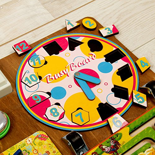 Wooden Activity Busy Board for Girls by Neskuchnye igry (Image #4)