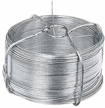L/änge 100 m INDUTEC Drahtspinne Drahtrolle Drahtspule Draht verzinkt 1,4 mm