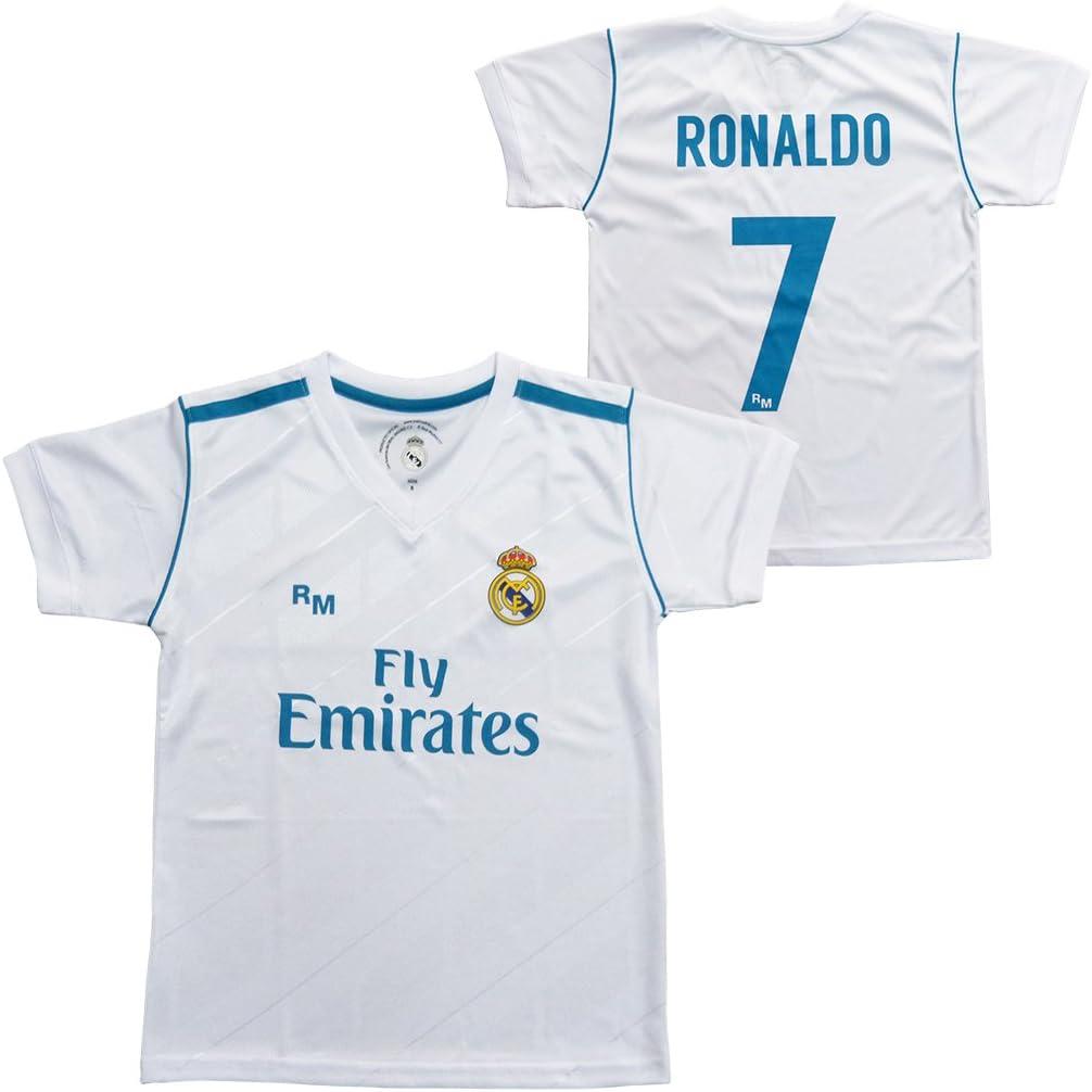 Camiseta 1ª Equipación Replica Oficial REAL MADRID 2017-2018 Dorsal RONALDO - Tallaje ADULTO (S): Amazon.es: Deportes y aire libre