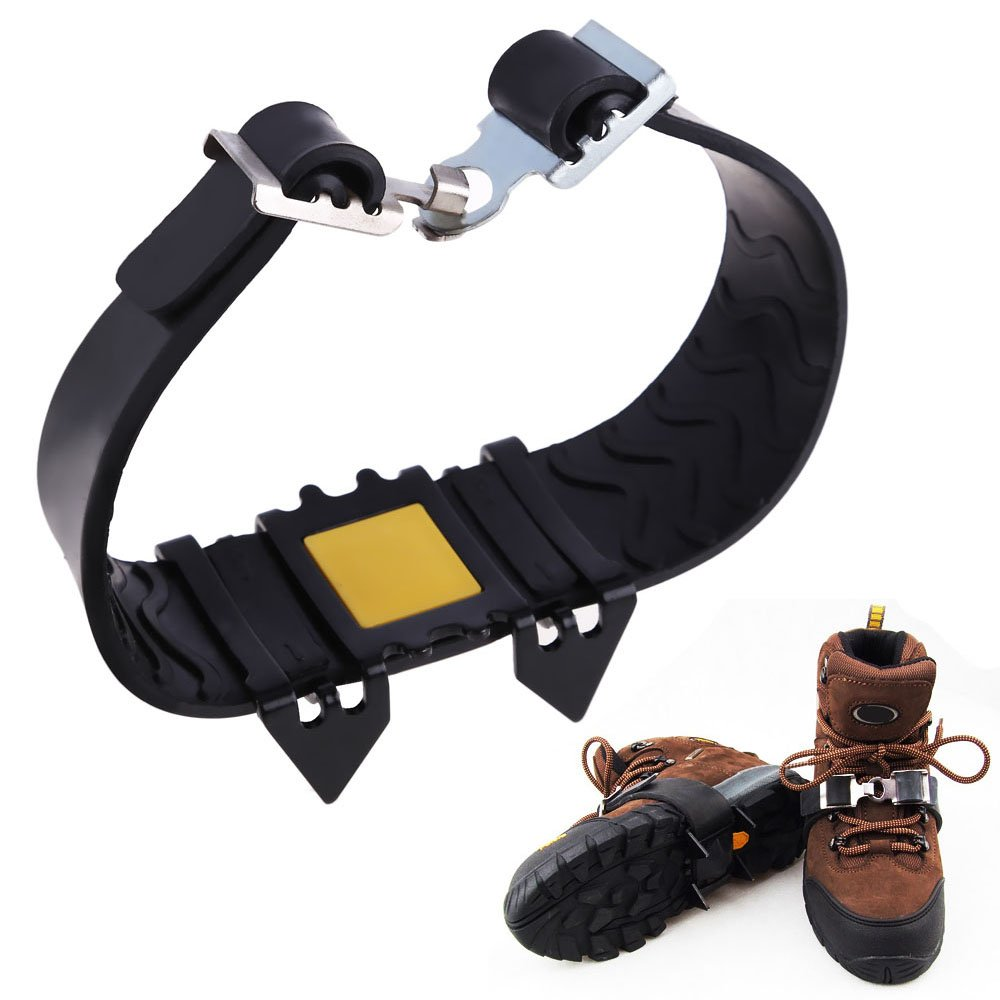 Od-sports 4 teeth New Non-slip Spikes Ice Snow Crampons Shoes Chain Cleat for Climbing Walk Hiking Spike Grip Ice Crampon