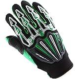Motocross Motorcycle BMX MX ATV Dirt Bike Skeleton Racing Cycling Gloves Green