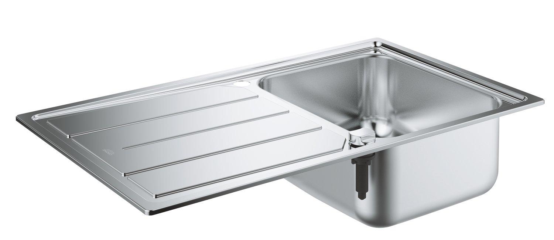 Grohe K500 Fregadero de acero inoxidable con escurridor
