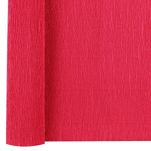 Just Artifacts Premium Crepe Paper Roll - 8ft Length/20in Width (Color: Red)]()