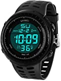 LYMFHCH Men's Digital Sports Watch LED Screen Large Face Military Watches and Waterproof Casual Luminous Stopwatch Alarm Simple Army Watch