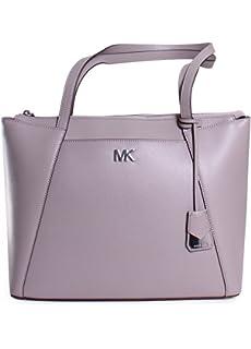 917eb41dd1b668 Michael Kors Maddie Medium Crossgrain Leather Tote- Oat: Handbags ...