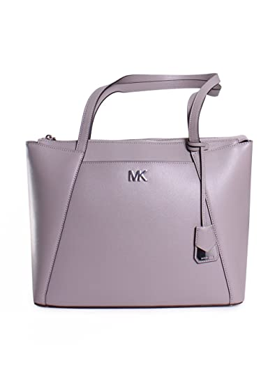 12a3b0b131f5 Michael Kors - Maddie Medium Leather Tote Bag, Pearl Grey, OS:  Amazon.co.uk: Clothing