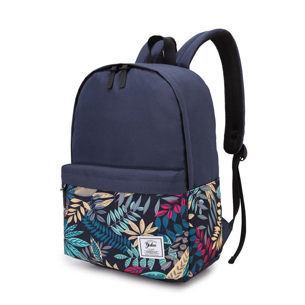 HaloVa Backpack, Quality Men's Women's Rucksack Knapsack, Wear-resistant Waterproof Air-permeable Large Capacity Canvas Laptop Schoolbag, Dark Blue