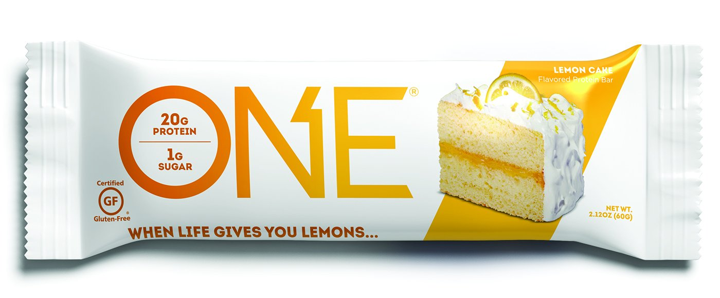 ONE Protein Bar Lemon Cake 212 Oz 12 Pack Gluten