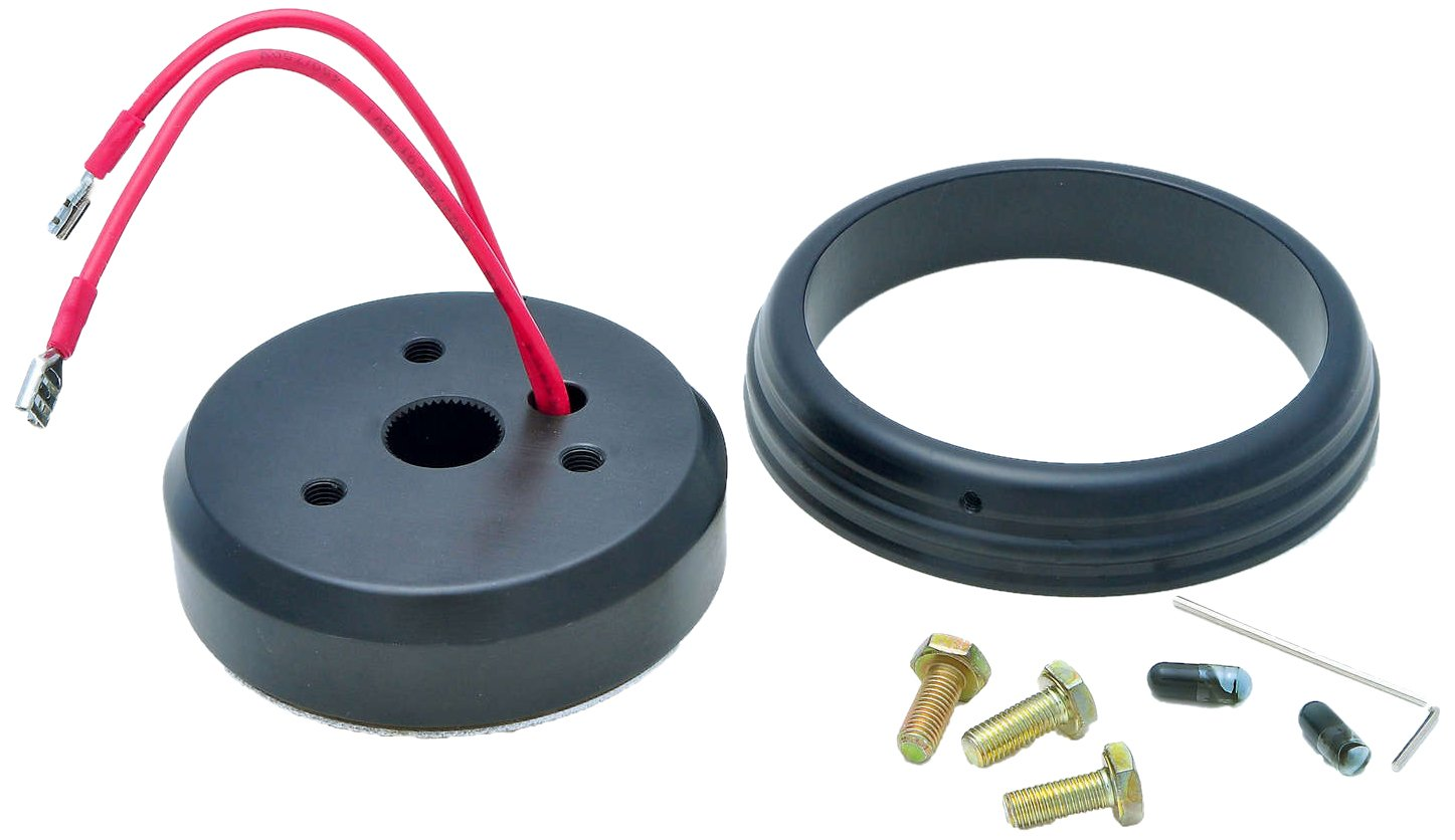 GT Performance 20-6009 Steering Wheel Install Hub for Ford, Black Anodized