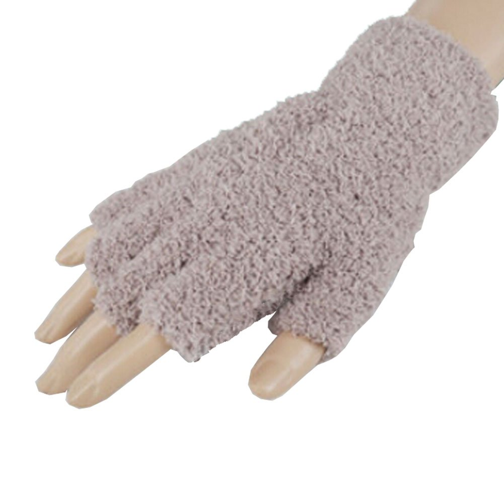 Femmes / Gants filles hiver Mitaines en peluche, 1 paire, kaki Blancho Bedding