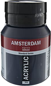 Royal Talens Amsterdam Standard Series Acrylic Color, 500ml Tube, Prussian Blue Phthalo (17095662)
