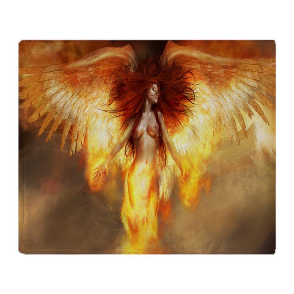 CafePress – 美しいFire Angel – ソフトフリーススローブランケットブランケット、50