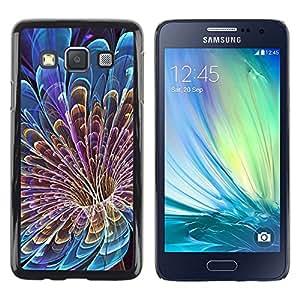 Paccase / Dura PC Caso Funda Carcasa de Protección para - Floral Petal Vortex Mysterious Blue - Samsung Galaxy A3 SM-A300