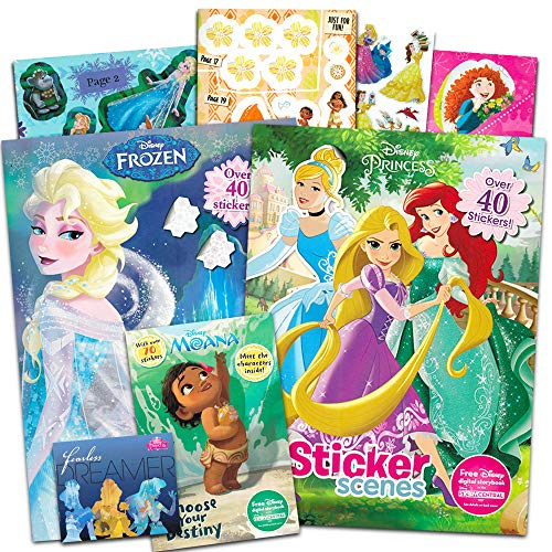 Disney Princess Coloring and Activity Book Super Set -- Bundle Includes 3 Deluxe Disney Princess Coloring Books with Over 175 Stickers ()
