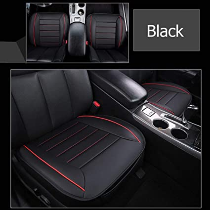 Black Car Seat Cover Mat Pad Protector Breathable Soft Pu Leather Cushion Chair