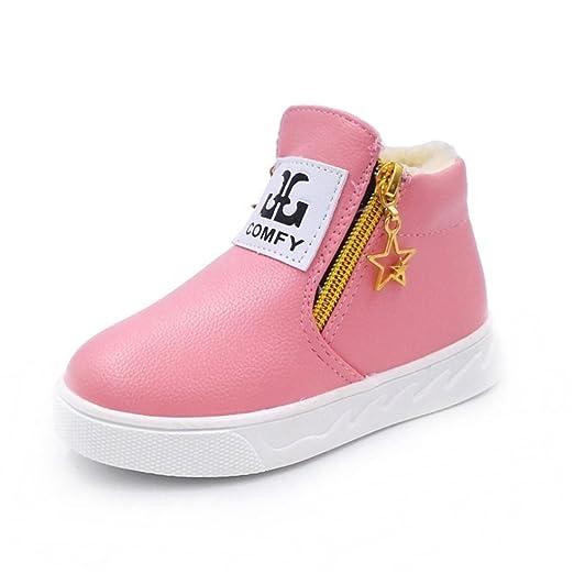 e08979e0b008f Amazon.com: Auwer Children Winter Thicker Shoes Casual Sport Boy ...