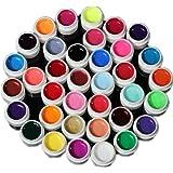 YESURPRISE 36 Couleurs Nail Art Gel UV Pure Colors Décorations design Extension Builder DIY Conseils Set