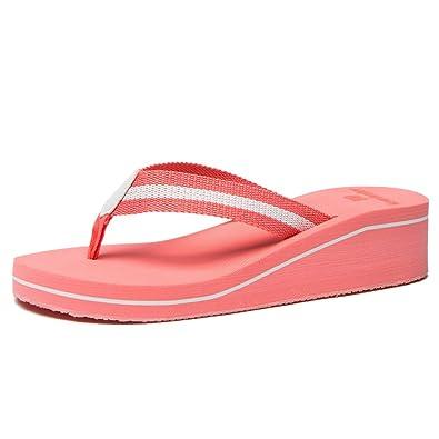 eb42559ed62 NewDenBer Women s Comfortable Wedge Flip Flop (6 B(M) US