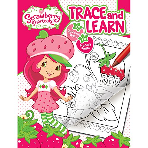 Strawberry Sheets Shortcake (Bendon 21010 Strawberry Shortcake 48-Page Color and Trace Book)