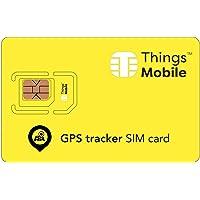 Carte SIM pour traceur GPS - GSM/2G/3G/4G - idéale pour les localisateurs de signal satellite, avec 10 € de crédit inclus.