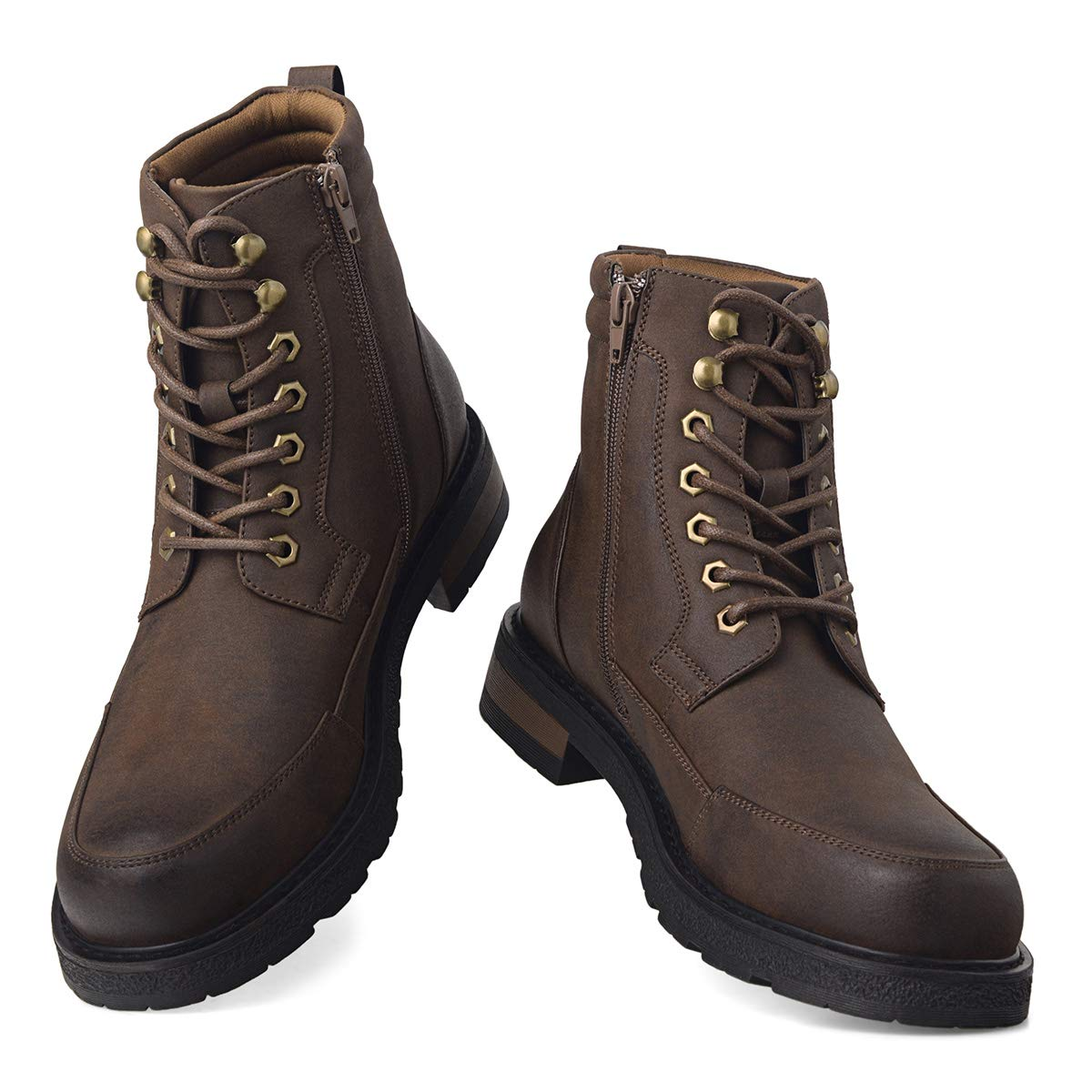 GM GOLAIMAN Mens Combat Boots Lace up Motorcycle Boots