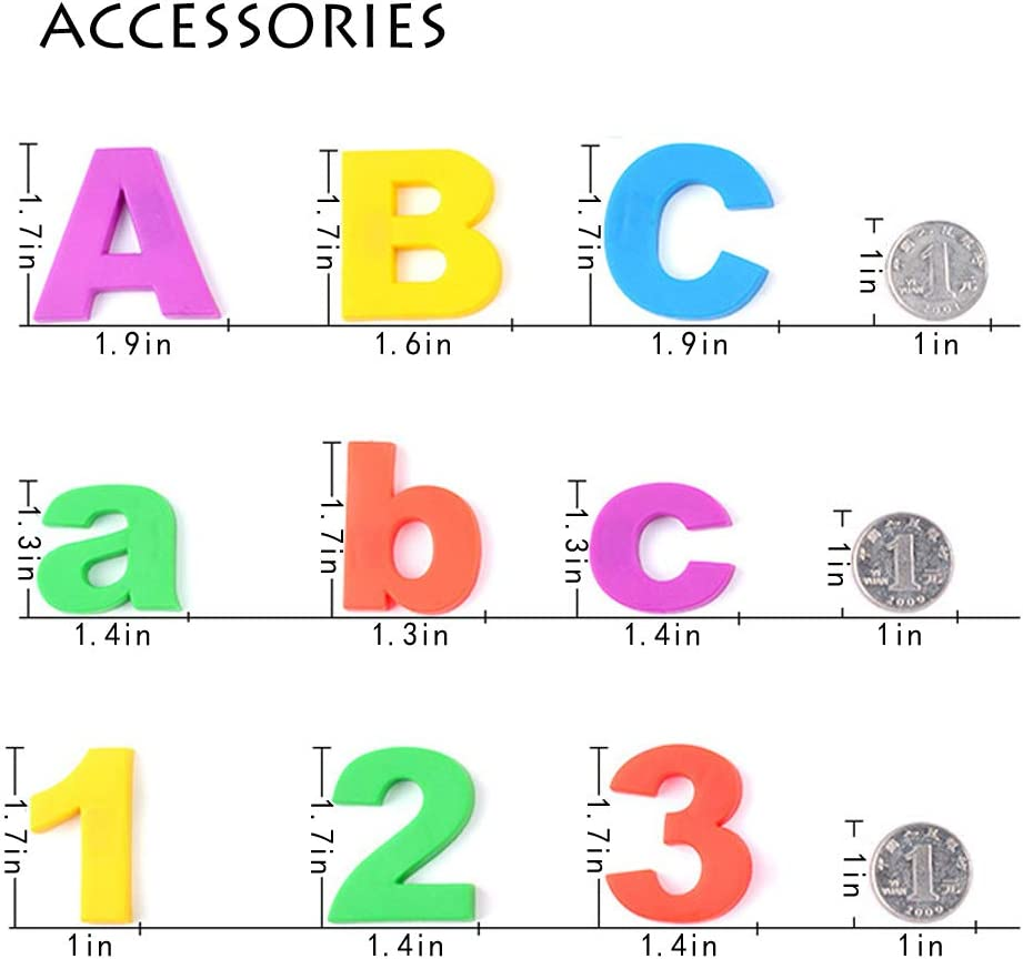 80PCS Magnetic Letters and Numbers,Simuer Alphabet Refrigerator ...