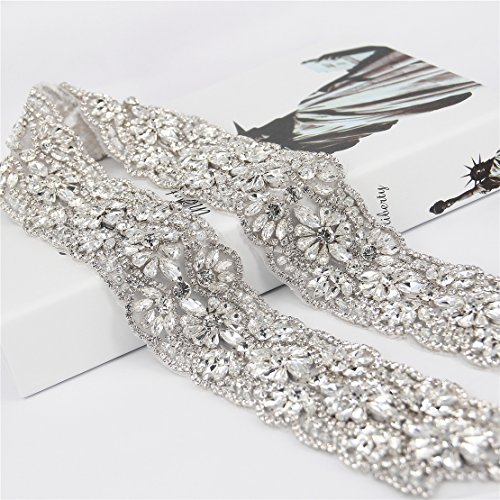Trlyc All Around Beading Bridal Belt Wedding Belt Bridal Sash Wedding Sash Crystal Sash Wedding Dress Jeweled Belt Rhinestone Sash Rhinestone Belt