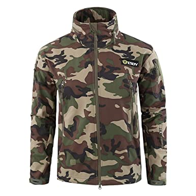 634406e6b1fa8 TIREOW ♚ Men's Fashion Camouflage Outdoor Coat Hooded Jackets Sports  Uniform Velvet Overalls Tops Blouse (