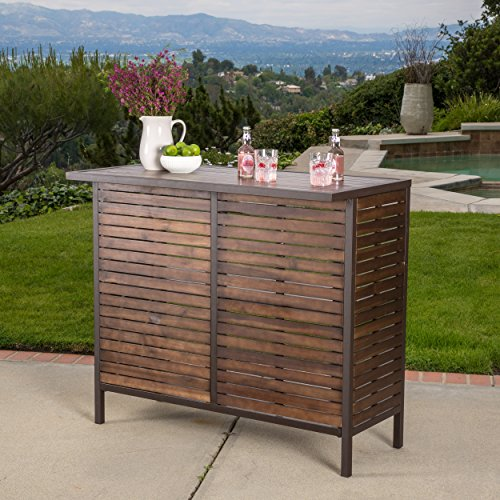 Isabel acacia bar table best price for Best deals on patio furniture sets