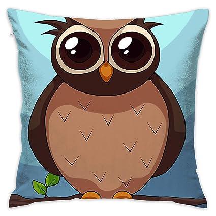 Owl gradually Decorative Throw Pillow Cases Printing Sofa Cushion Cover@@ Home, Furniture & DIY