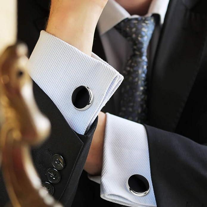 Richbrook MG Official Logo Mens Suit Shirt Wedding Formal Office Work Cufflinks