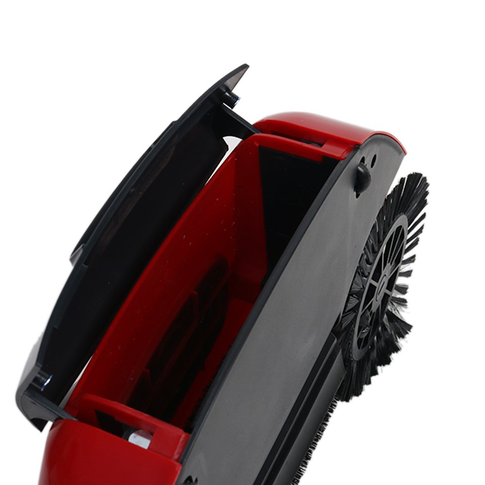 360 Degree Rotating Household Automatic Hand Push Sweeper Broom, Multi-Functional Profession Vacuum Cleaner Sweeping Robot without Electricity, 3 in 1 Dustpan and Trash Bin Floor Cleaning System (red) by YOUBEST (Image #6)