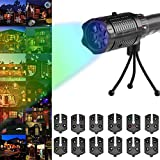 Sundlight Christmas Flashlight, LED Projector Flashlight with 12 Patterns Slides and Tripod for Halloween,Christmas,Easter,Birthday,Home Party Holiday Decor