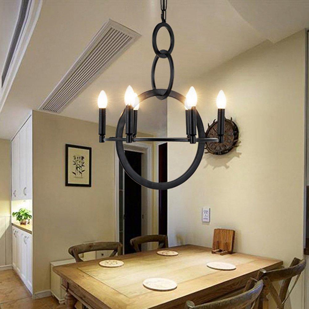 Ladiqi 6 Lights Hanging Chandelier Hanging Pendant light Island Lighting Fixture for Dinning Room Living Room Bedroom Kitchen